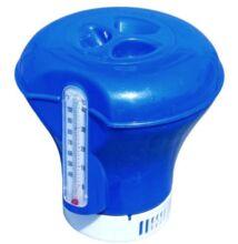 Úszó vegyszeradagoló hőmérős