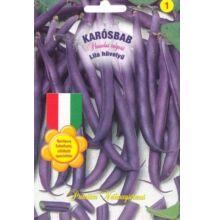 Karós zöldbab lila hüvelyű