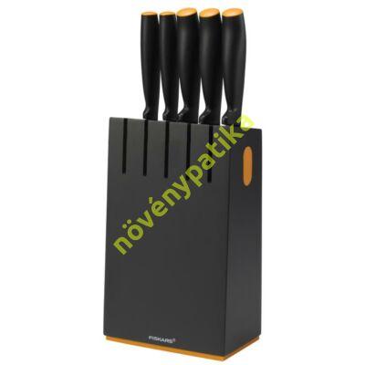 """Fiskars Functional Form Késblokk 5 késsel """"fekete blokk"""""""