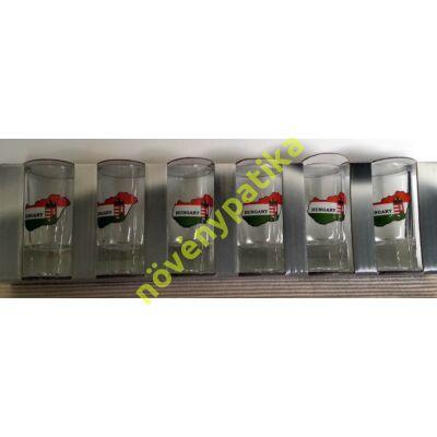 Pálinkás pohár készlet 6 db-os 25 ml Magyarország