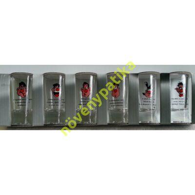 Pálinkás pohár készlet 6 db-os 25 ml Vicces 2.