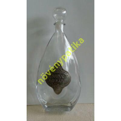 Díszüveg óncimkés Boldog névnapot 500 ml