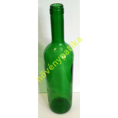 Boros palack 0,75 liter zöld