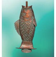 Hal alakú fém vízköpő