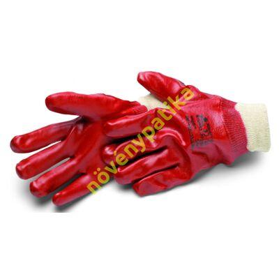 PVC saválló kesztyű piros 24 cm