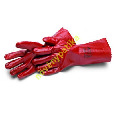 PVC saválló kesztyű piros 36 cm