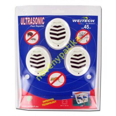 Egérriasztó ultrahangos 3 db-os családi csomag