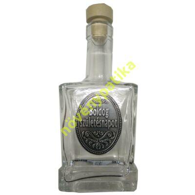 Díszüveg óncimkés Boldog születésnapot 200 ml