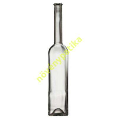 Boros, pálinkás palack magas 0,5 liter szintelen