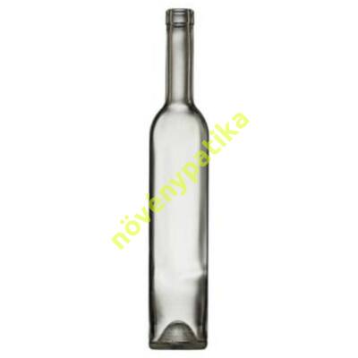 Boros, pálinkás palack 0,5 liter szintelen