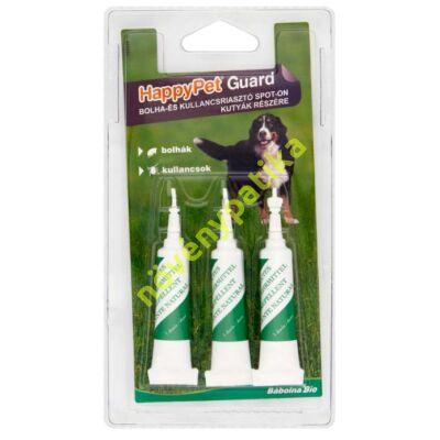 HappyPet Guard bolha- és kullancsriasztó spot-on kutyák részére 3x5 ml