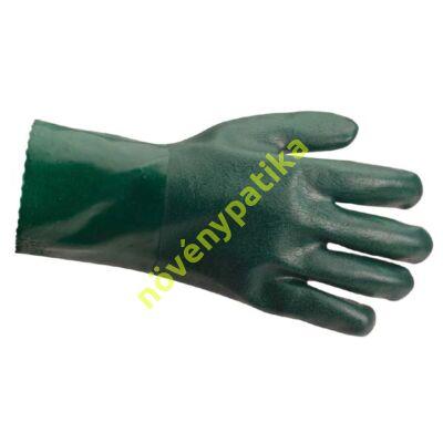PVC saválló kesztyű zöld 27 cm