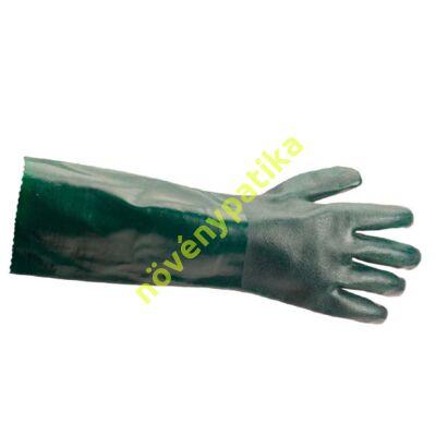PVC saválló kesztyű zöld 40 cm
